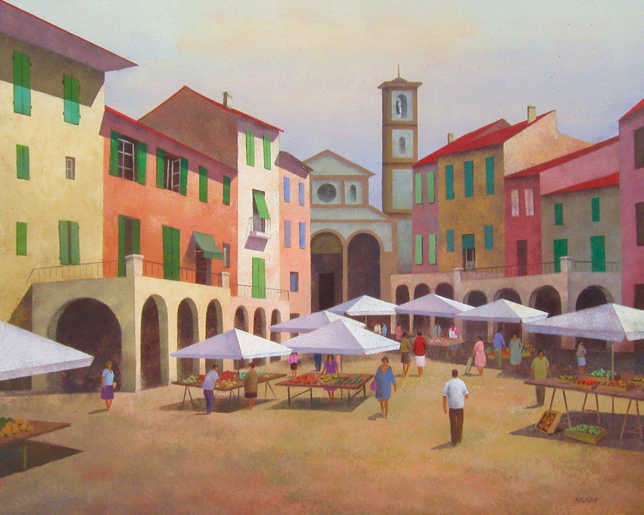 REUNIÓN CON REIGEM 1382-9._mercado_en_la_toscana_50x61_cm